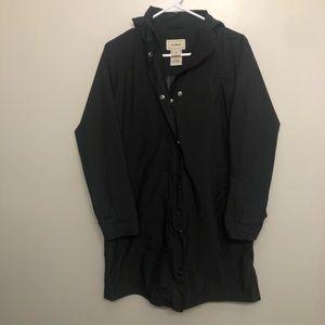 LL Bean trench coat rain jacket black XS